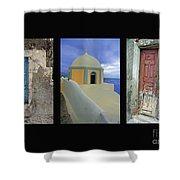 Santorini Memories Shower Curtain