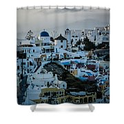 Santorini Misty Morn Shower Curtain