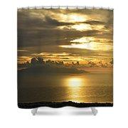 Santorini. Sunlight Shower Curtain