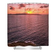 Santorini Sunset Shower Curtain