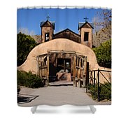Santuario De Chimayo Adobe Chapel Shower Curtain