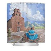 Santurario De Guadalupe Shower Curtain