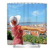 Sao Jorge Castle Overlook Shower Curtain
