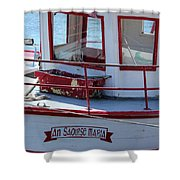 Saoirse Boat Donegal Shower Curtain