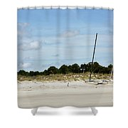Sapelo Island Boats Shower Curtain
