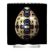 Sapphire And Gold Imperial Easter Egg Shower Curtain