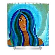 Sapphire Angel Shower Curtain