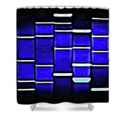 Sapphire Blue Shower Curtain