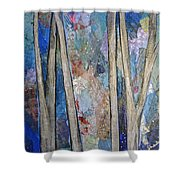 Sapphire Forest I Shower Curtain