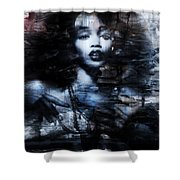 Sapphire Longing In The Blue Dust #1 Shower Curtain