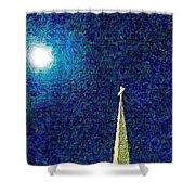 Sapphire Moon Glow Shower Curtain