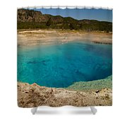 Sapphire Pool Shower Curtain