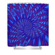 Sapphire Swirl Shower Curtain