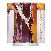 Sarah Bernhardt Shower Curtain by Granger