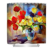Sara's Colorful Bouquet  Shower Curtain