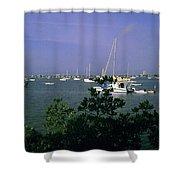 Sarasota Bay Harbor Shower Curtain