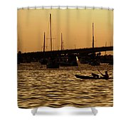 Sarasota Bay Sunset #1 Shower Curtain