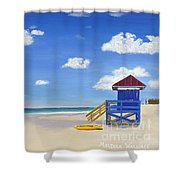 Sarasota Beach Shower Curtain