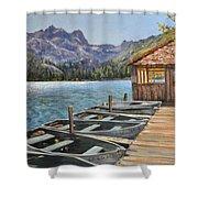 Sardine Lake Shower Curtain