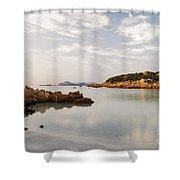 Sardinian Coast I Shower Curtain