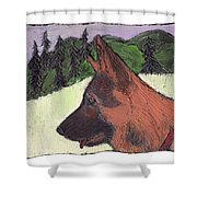 Sarge Shower Curtain