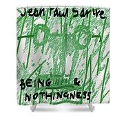 Sartre Poster Jp  Shower Curtain