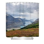 Saskatchewan Glacier In Canada Shower Curtain