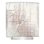 Saskatoon Street Map Colorful Copper Modern Minimalist Shower Curtain