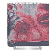 Sassy Red Dog Shower Curtain