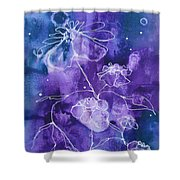Sassy White Flowers Shower Curtain