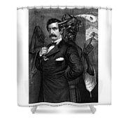 Satan Tempting John Wilkes Booth Shower Curtain