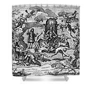 Satan With Cavorting Dancers, 18th Shower Curtain