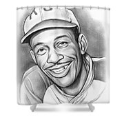 Satchel Paige II Shower Curtain