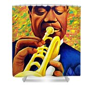 Satchmo, Louis Armstrong Painting Shower Curtain