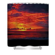 Satellite Beach Sunrise Shower Curtain
