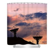 Satellite Sunset Shower Curtain