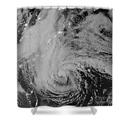Satellite View Of Hurricane Sandy Shower Curtain