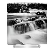 Sathodi Falls In Black And White Shower Curtain