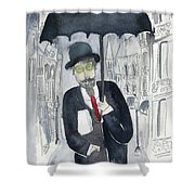 Satie Walking In The Rain Shower Curtain