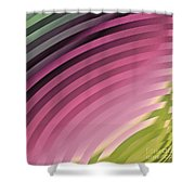 Satin Movements Pink II Shower Curtain