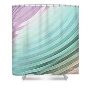 Satin Movements Sky Blue Shower Curtain