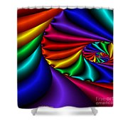 Satin Rainbow Shower Curtain