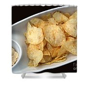 Satisfy The Craving With Chips And Dip Shower Curtain