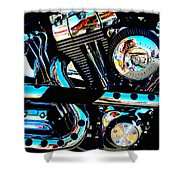 Saturated Chrome Shower Curtain
