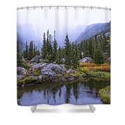 Saturated Forest Shower Curtain