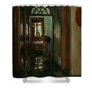 Saturday  An Interior View Of Garstin's Home  Shower Curtain