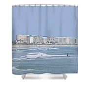 Saturday At The Beach Shower Curtain