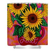Saturday Morning Sunflowers Shower Curtain