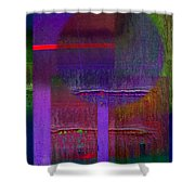 Saturn Abstract Shower Curtain