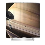 Saturn Flyby Shower Curtain